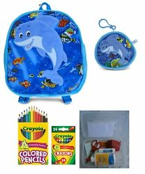 Plush Dolphin Backpack Coin Purse And A Surprise Gift For Children Entering And