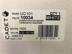 [NEW] Cadet UC101W Perfectoe 1000W 120V Fan-Forced Under-Cabinet Electric Heater