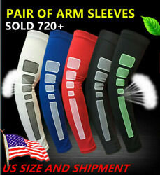 PAIR of Compression Sports Arm Sleeves Cooling Sleeve Camo Football Basketball