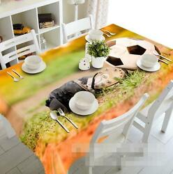 3d Football Boots Tablecloth Table Cover Cloth Birthday Party Event Aj Wallpaper