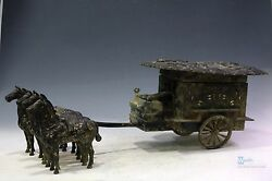 Fine Chinese beautiful Bronze insert Gold and silver carriage