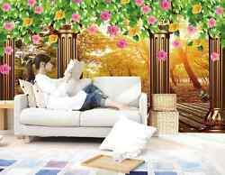 3d Wilderness Forest Flowers 34 Wall Paper Wall Print Decal Wall Aj Wall Paper