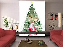 3d Father Christmas Tree 22 Wall Paper Wall Print Decal Wall Deco Indoor Wall