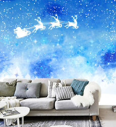 3d Christmas Father In Sky 454 Wall Paper Wall Print Decal Wall Deco Indoor Wall