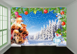 3d Christmas Father House 744 Wall Paper Wall Print Decal Wall Deco Indoor Wall