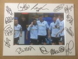 An 8 X 6 Inch Mount With Photo Signed By 14 Of The Bolton Wanderers 2016/17 4.