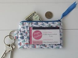 ID Wallet Keychain Badge Holder Wallet made with Sail Boats Fabric