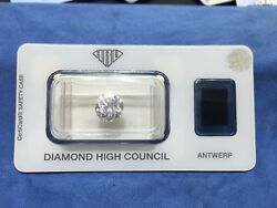 Round Diamond 223 D  VVS1 Sealed and Certified by HRD