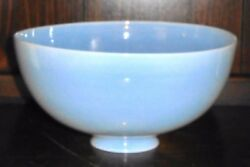 Large 10x5inch Vintage Art Deco Opalescent Hurricane Shade For Oil Table Lamp