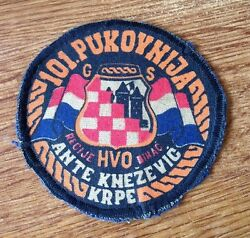Croatia Army - Hvo - 101 Regiment Ante Knezevic - Krpe Extremely Rare Used Patch