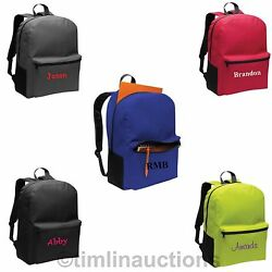 Personalized Backpack Bag Boys Girls Back to School Monogrammed Embroidered $14.95