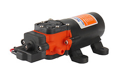 12 V Boat Rv Water Pressure System Automatic Pump Replaces Flojet 70 Psi 1.1 Gpm
