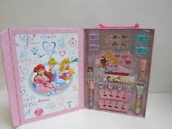 Disney Princess Beauty Cosmetic Set Lip Gloss Nails etc 28 PcSet Reusable Box $14.99