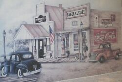 Coca Cola General Store 24x30 Wooden Framed Print Signed By Kay Lamb Shannon