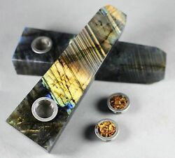 500 Pcs Wholesale!  Natural Labradorite Gems Crystal Quartz Smoking Pipe