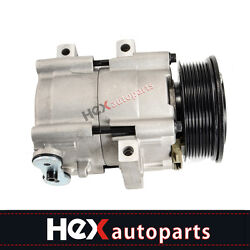 Ac A/c Compressor With Clutch For 97-03 Ford Lincoln 4.6l 5.4l 6.8l Fs10