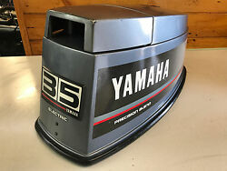 89 Yamaha 35 40 Hp 2 Stroke Outboard Motor Top Cowl Cover Hood Freshwater Mn