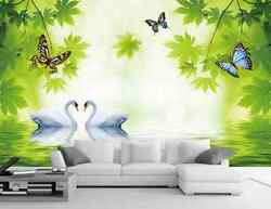 3D One pair of swans butterfly Wall Paper Wall Print Decal Wall DecoAJ WALLPAPER