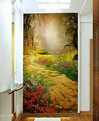 3D Stone Castle Garden 0011 Wall Paper Wall Print Decal Wall Deco AJ WALLPAPER