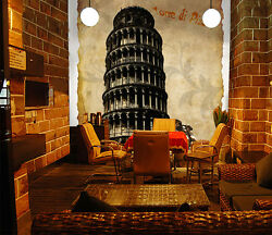 3D Black tall round tower 309 Wall Paper Wall Print Decal Wall Deco AJ WALLPAPER