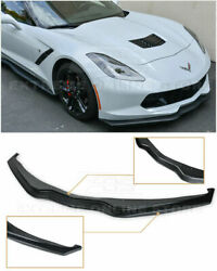 Eos Z06 Stage 2 Style Abs Front Lower Lip Splitter For Corvette C7 2014-2019