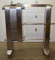 York Plate And Frame Heat Exchanger 39 Plate Stainless Steel 3 Inlet / Outlet
