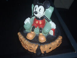 Extremely Rare Disney Mickey Mouse In Chair Original Version Statue By Stan