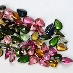 Natural Multi Tourmaline Faceted Pear Loose Calibrated Gemstone Wholesale