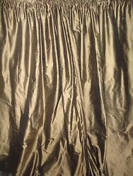 Vintage Sears And Roebuck Antique Bronze Blackout Pair Drapery Panels 50 X 108