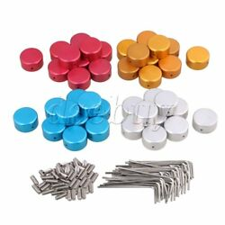 40pcs Guitar Effects Parts Stomp Switch Pedal Box Foot Metal Knobs