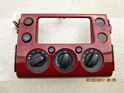 07 - 12 TOYOTA FJ CRUISER 4.0L AC HEATER TEMPERATURE CLIMATE CONTROL BRICK RED