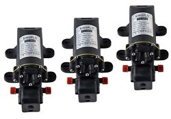 3 Pack 12v Water Diaphragm Pump W Pressure Switch 1 Gpm Replace Jabsco And Seaflo