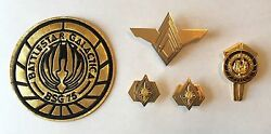 Battlestar Galactica Deluxe Adm Rank Pins, Sr. Officer Wings, Dress Pin And Patch