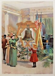 Original1893 Columbian Exposition Print Old Liberty Bell By C. Graham