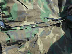 Usmc Army Extended Cold Weather Woodland Camo Parka Size Large Short