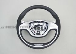 Mercedes-Benz W222 AMG Leather Steering Wheel with Alcantara Trims with heating
