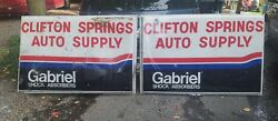 Vintage Clifton Springs Auto Supply Gabriel Shock Absorbers Signs 6x4