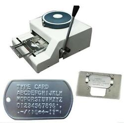 Hot 52 Characters Dog Id Tag Embosser Embossing Stamping Machine Fast Shipping
