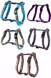 Rogz Fancy Dress Adjustable Nylon Dog Harnesses Lots Of Colours And Sizes