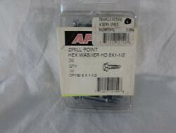 Ap Products Hd 8 X 1 -1/2 Drill Point Hex Washer New Rv Parts Direct To You