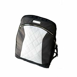 MotoChic Shops Women's Lauren Convertible Backpack Bag In White Leather Medium