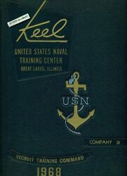 1968 U. S. Navy Basic Training School Yearbook, The Keel, Co. 34, Great Lakes Il