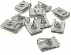 10 x Automotive M5 Chimney Captive Spring Nut Clips / Clamps in Geomet Coating