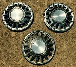 1968 Ford Mustang Hubcap Lot, Three 3 Hubcaps, 14 Chrome, Factory Oem Used