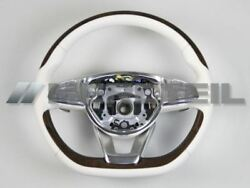 New Mercedes-benz C217 W222 Leather Wood Steering Wheel
