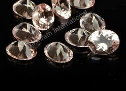 Natural Peach Morganite Oval Cut Loose Calibrated Gemstone Oval Morganite