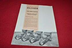 Oliver Tractor 340 Tool Bar Planter Dealers Brochure Yabe14