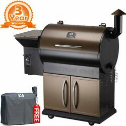 Z Grills Zpg-700d Upgrade Wood Pellet Grilland Smoker 8 In 1 Bbq Grill W/cover