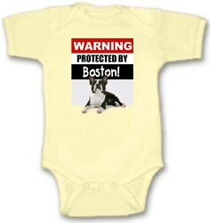 Protected by Boston Baby Bodysuit Cute New Gift Choose Size Color