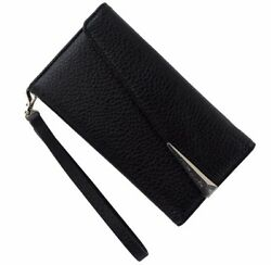 NEW Case-Mate Leather Folio Wristlet Case Cover for iPhone 7 6s 6 - Black